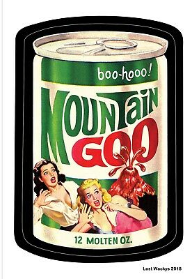NEW Lost Wacky Packages VARIATIONS Series 3 Proof Card MOUNTAIN GOO