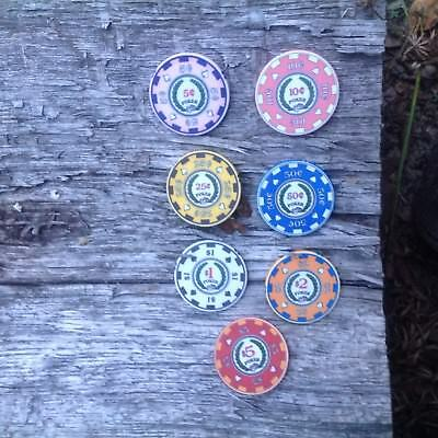 Archetype Poker Chips Small Denomination Sampler, 5 Cents To $5