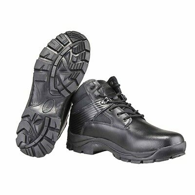 Tactical Boot Black Mid Ankle Light Military Uniform Police Hiking Camp Security