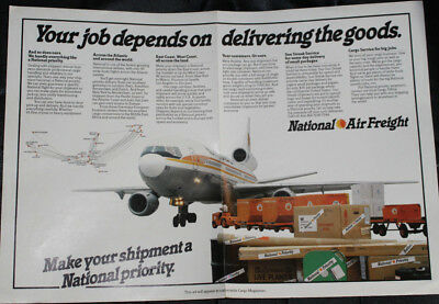 Vintage National Airlines Air Freight Ad