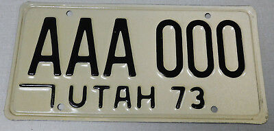 1973 Utah sample passenger car license plate