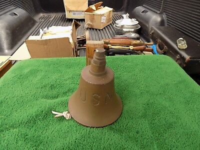 Vintage Bronze/Brass U.S.N. Navy Ship Bell WWII? Loud Estate Find