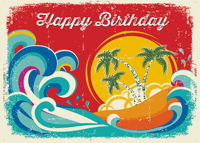 4 greeting cards hawaiian happy birthday tropical holiday with 4 greeting cards hawaiian happy birthday tropical holiday with glitter m4hsunfo