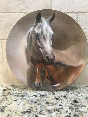 Fred Stone 1982 Arabian Mare & Foal Collector Plate