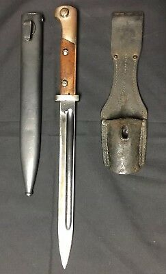 Vintage WWII Mauser Bayonet K98 Knife 49210 WP lbr4  WP 3 With Scabbard & Frog