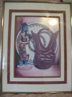 Jack Bazel Framed Print 1981 Southwest Style Nicely Framed and Triple Matted
