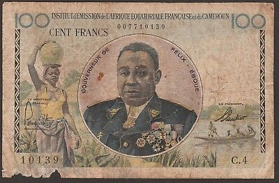 French Equatorial Africa P-32 / B505a  100 Francs   NO RESERVE  10139