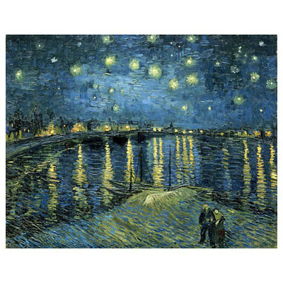 Starry Night by Van Gogh Painting Canvas Prints Picture Home Decor Wall Art
