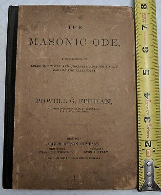 Masonic Ode by Powel G Fithian 1890