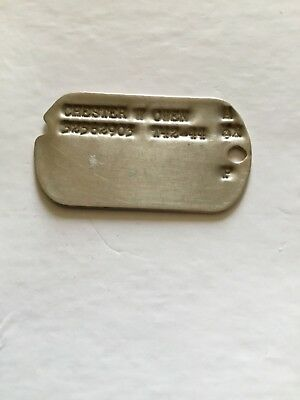 WWII Dog Tag B-24 Liberator Ball Turret Gunner 721 BS/ 450 BG