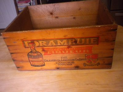 Vint. Wood Crate Drambuie Liqueur Edinburgh,Scotland Gift Carton Los Angeles,Ca.