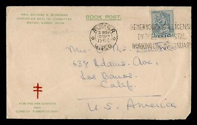 Dr Who 1955 India To Usa Tuberculosis Cure C38970