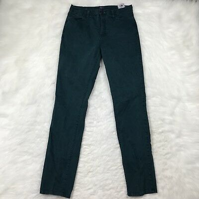 NYDJ Skinny Jeans Size 8 Aqua Blue Green Slimming Stretch Fit