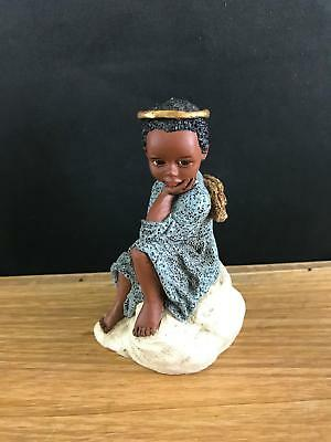 "1993 All Gods Children Martha Holcombe Figurine ""uriel"" God Is Love Angel Wings"