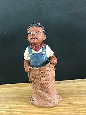 "1992 All Gods Children Martha Holcombe Figurine ""beth"" God Is Love Potato Sack"