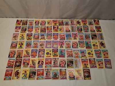 1986 Lot of 95 Assorted Garbage Pail Kids Trading Cards