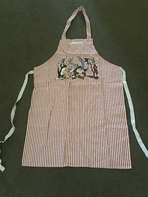 Vintage Warner Bros WB Apron - Featuring Bugs Bunny, Taz, Sylvester, and Tweety