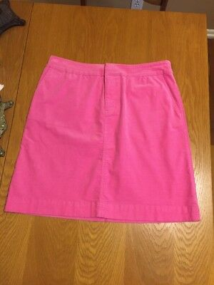 Womens Lilly Pulitzer Pink Finewale Corduroy Skirt Size 6 In EUC - SHIPS FREE