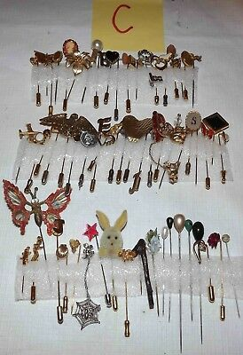 Huge Lot C Of Over 50 Vintage To Modern Hat/stick Pins Jewelry *lqqk*