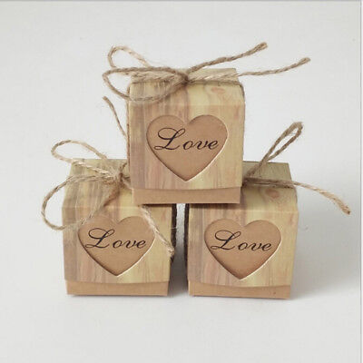 10Pcs/set Kraft Paper Favor Small Box Wedding Party Favor Gift Xmas Candy Boxes