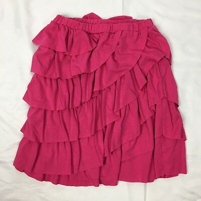Gymboree Outlet Girl's Size 12 Pink Skirt Tiered Elastic Waist