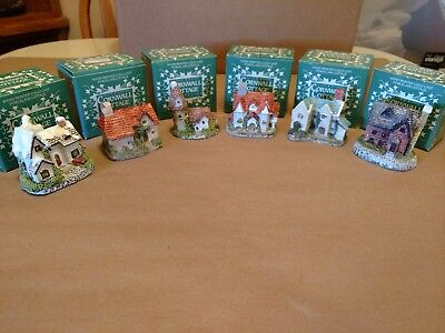 The Cornwall Cottage Collection~1987 Museum Collections~4 Porcelain Cottages~