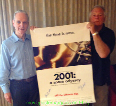 2001 : A SPACE ODYSSEY MOVIE POSTER DS 27x41 RE-RELEASE 2001  AUTOGRAPHED BY 2