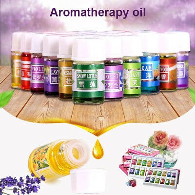 6/12/36 Bottles 3ml Aromatherapy Essential Oil Set for Home Office Car Gift New