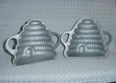 Martha Stewart Collectible:  Cast Aluminum 2-Piece Bee Hive Cake Mold....8""