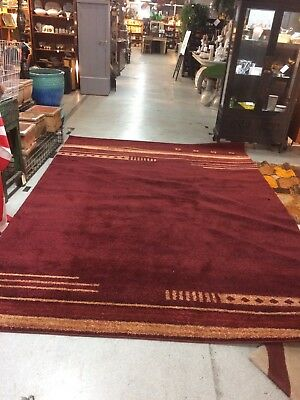 Large Turkish Art Deco Wool Rug