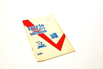 Paris Weekly Information - Brochure/Tour Guide - August/September 1970