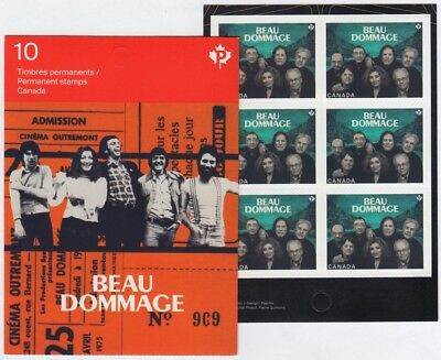BEAU DOMMAGE = Canadian Recording Artists =One BKL Page of 6 stamps Canada 2013