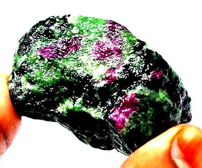 312 Ct Natural Untreated Ruby Zoisite Bicolor Rough Gemstone