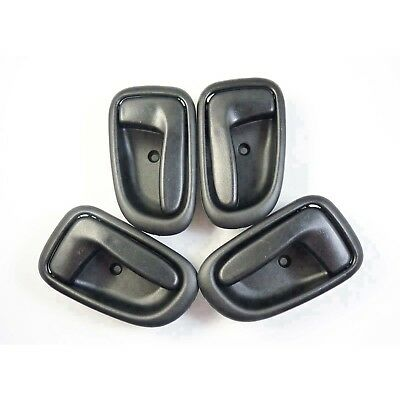 4PCS Black Interior Door Handles Front Rear Left Right For GEO PRIZM TOYOTA New