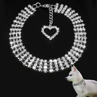 Comfortable Fashion Bling Dog Cat Jewelry Rhinestone Collar Pet Crystal Necklace