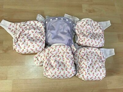 5x  Bambooty Easy Night Modern Cloth Reusable Nappies Size Large