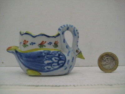 Rare Vintage Quimper France Faience Swan Egg Cup Marked Hr