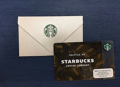 Starbucks Korea 2018 Corporate Card /  Matching Sleeve
