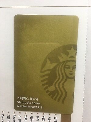 Starbucks Korea  2018 Gold Level Reward Card