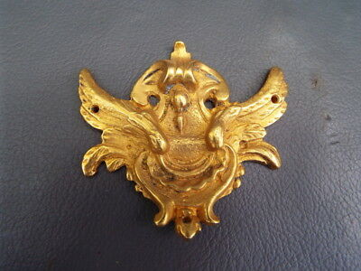 Vintage ornate gilt brass furniture or clock mount