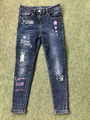Girls Skinny Stretch Jeans Age 8-9 Years Great Condition From George.