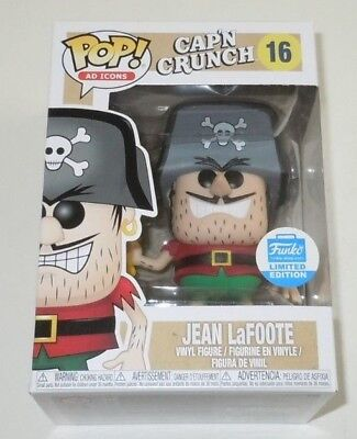 Jean LaFoote Funko Pop #16 Ad Icons Limited Edition Captain Crunch Cinnamon Capn