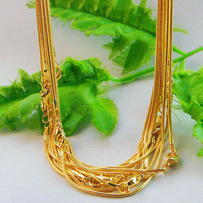10Pc Gold Silver Plated Snake Chain Necklace DIY Jewelry Making Chain Chic Acces