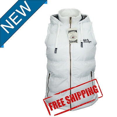 Womens Full Zip Vest Hooded Puffer Warm Sleeveless Fleece Jacket For  autumn W