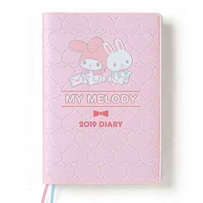 My Melody 2019 Schedule Book Diary A6 Weekly Block Sanrio Japan