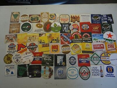 60 x ASSORTED COLLECTABLE BEER COASTERS AUSTRALIA PF37