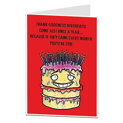 Funny 60th Birthday Card For Men & Women 60 Today Mum Dad Brother Sister Friend
