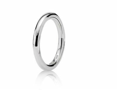 Retired Pandora Softly Spoken Sterling Silver Ring Size 56 RRP $59 190380