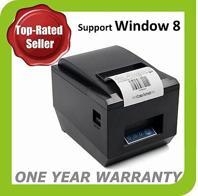 High Speed POS Thermal Receipt Printer 80mm Auto Cutter USB// BE ERDFE