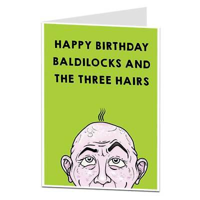 Funny Happy Birthday Card For Dad Bald Spot Joke 299 Picclick Uk
